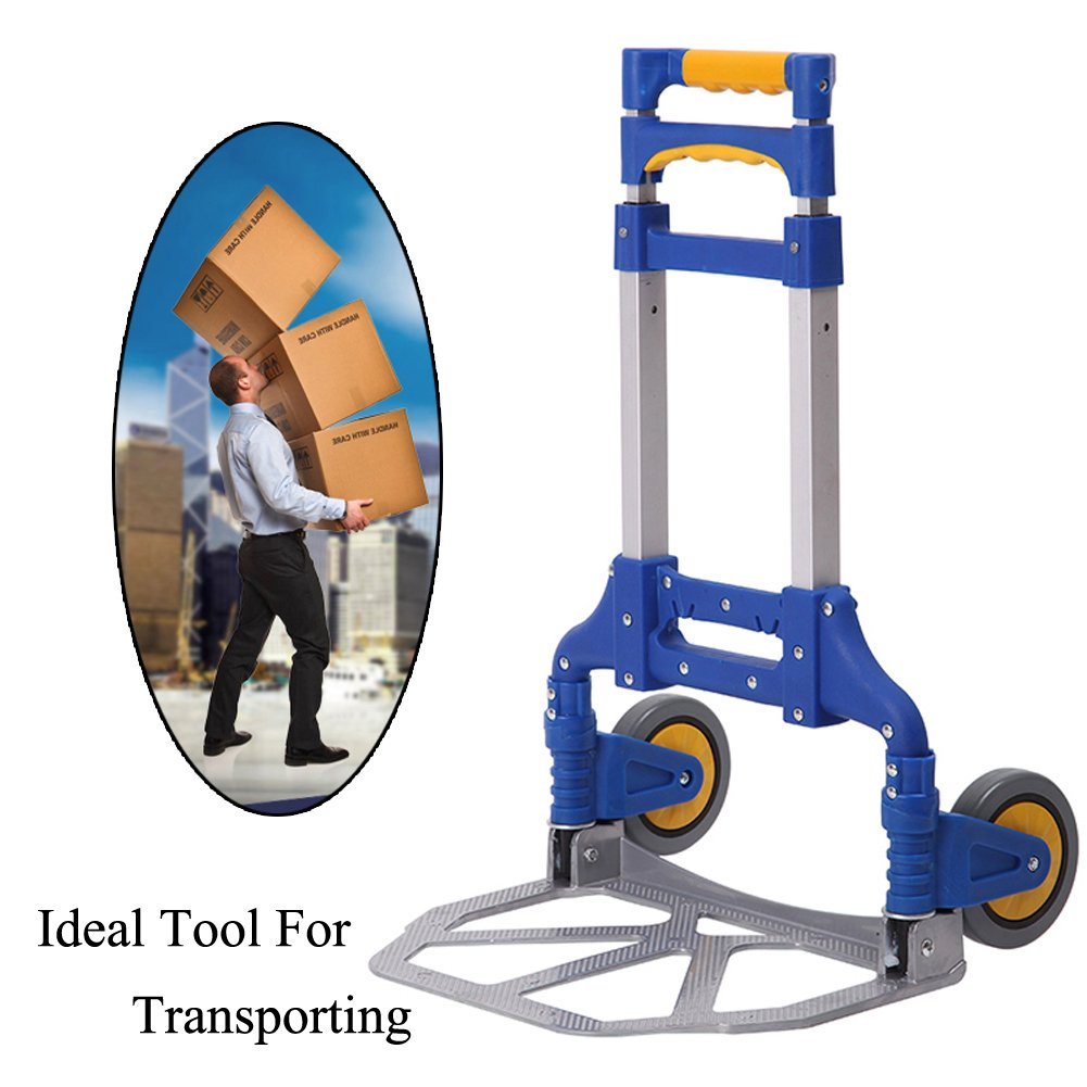 Portable Folding Aluminum Hand Truck Luggage Carts Dolly heavy duty