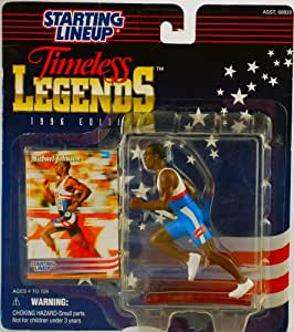 1996 - Kenner - Starting Lineup - Timeless Legends - Michael Johnson - Olympic Runner - Sports Figure - With Trading Card - Vintage - Limited Edition - Collectible