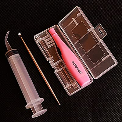 Earlywish LED Lighted Tonsil Stone Removing Tool, 3 Tips, Case + 1 Stainless Steel Tonsillolith Pick + 1 Irrigation Syringe