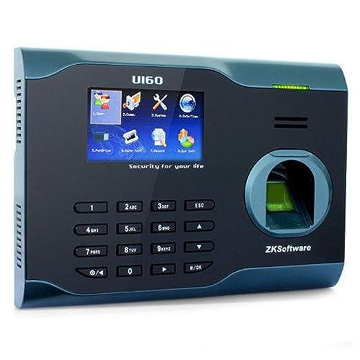 """ZKsoftware U160 Pointeuse biométrique à empreintes digitales Écran TFT 3"""" Lecteur/enregistreur Connexion client TCP/IP et USB Utilisation entreprise/hôpital"""