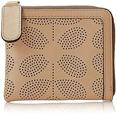 Orla Kiely Sixties Stem Punched Leather Small Zip Purse Wallet from Orla Kiely