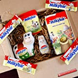 Milkybar Fan Easter Box - By Moreton Gifts - Easter Present - Easter Egg, Bunny, Cow, Buttons and Bars