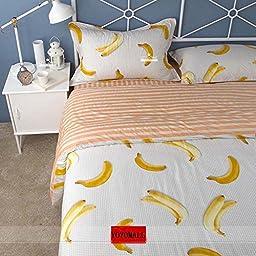 YOYOMALL 2015 New!Super Cute Banana Bedding Set,Banana Duvet Cover Set for Kids,Cotton Sheet Sets 4Pcs Full Queen Size (Full)