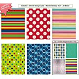 """Premium Birthday or All Occasion Gift Wrap Wrapping Paper for Men, Women, Boys, Girls, Kids 6 Different Designs, 8ft X 30"""" Rolls / Pack Set of Dots, Stripes and diamonds Included!"""