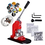 Mophorn Button Maker 1 Inch Button Maker Machine 25mm Button Badge Maker Aluminum Frame 500 Parts Circle Cutter DIY(500pcs, 1 Inch) (Color: 500pcs, Tamaño: 25mm 1Inch)