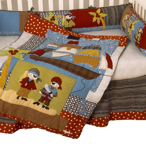 Cotton Tale Designs Pirates Cove 4 Piece Crib Bedding Set - 1