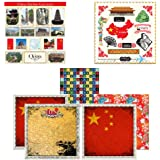 Scrapbook Customs Themed Paper and Stickers Scrapbook Kit, China Sightseeing