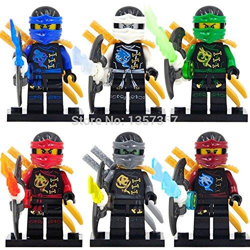 Ninja Minifigures 6 Pcs/set New Action Building Block Toys (Hobbit Action Figure Set compare prices)