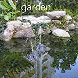Cozyswan Solar Pump Garden Fountain Pond Water Feature with 3 Spray Head Solar Powered Fountain Pump Kit for Fountains, Waterfalls and Water Displays (a Integrated One, No Separate Solar Panel and No Cable)