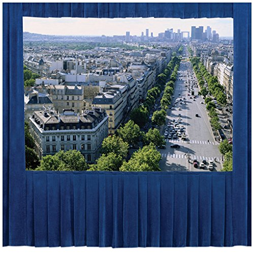 "Da-Lite Ultra Velour Fast-Fold Drapery Presentation Kits For Deluxe Frames With Skirt Bar 9' X 12' Area 13'9"" front-189496"