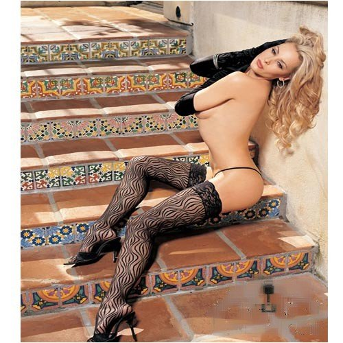 Swirl Lace Thigh High Stockings