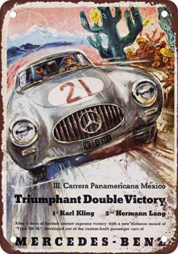 Letrero Baño Vintage:Letrero de Metal y reproducción en Look Vintage 1952 Mercedes-Benz