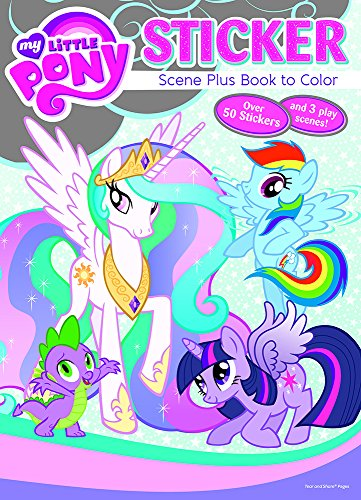 Bendon Publishing My Little Pony Sticker Scene Plus Book to Color