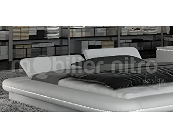 lit design blanc dubbo dubbo 200cmx200cm blanc avec matelas special dos reveluxe reveluxe. Black Bedroom Furniture Sets. Home Design Ideas