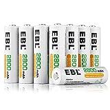 EBL 20-Counts AA Rechargeable Batteries 2,800mAh High Capacity AA Batteries (Tamaño: 20 Counts)