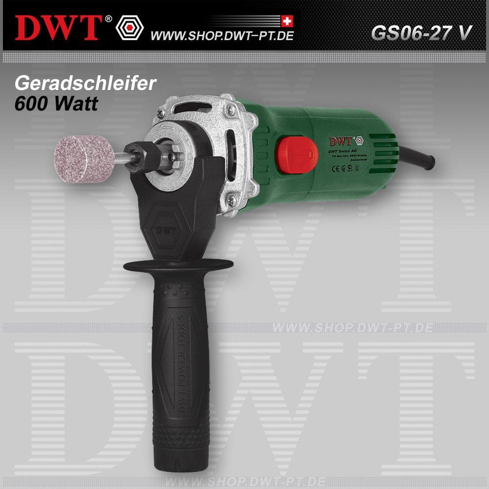 DWT Geradschleifer 600 Watt mit Drehzahlregler und Zubehör  GS0627 V  BaumarktRezension