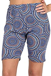 Oops Outlet Womens Ladies Printed Stretchy Jersey Gym Bike Cycling Tights Hot Pants Shorts Plus Size UK 8-26 from BE JEALOUS