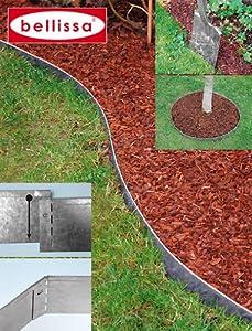 Belissa bordure per aiuole in metallo 4 pezzi for Bordure per aiuole obi