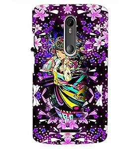 PrintDhaba Fantasy Girl D-3864 Back Case Cover for MOTOROLA MOTO X3 (Multi-Coloured)
