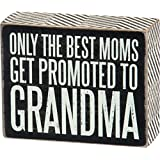 Primitives by Kathy Box Sign, Promoted to Grandma, 4 by 5-Inch