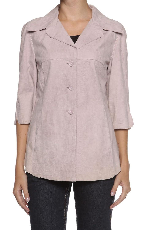 Cristiano di Thiene Damen Jacke Lederjacke CROCODILE PRINT, Farbe: Hellrosa jetzt kaufen