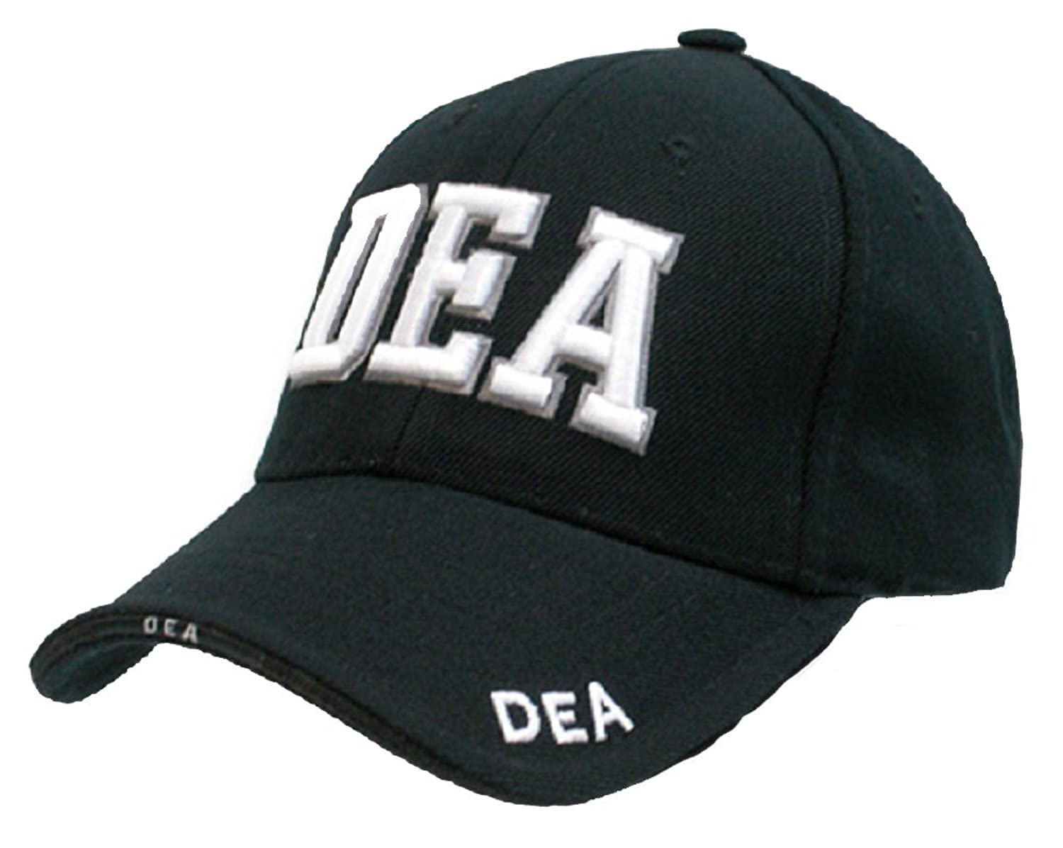 DEA - Law Enforcement - Baseball Cap / Hat Adjustable BLACK with 3D Embroidery unisex men women m embroidery snapback hats hip hop adjustable baseball cap hat
