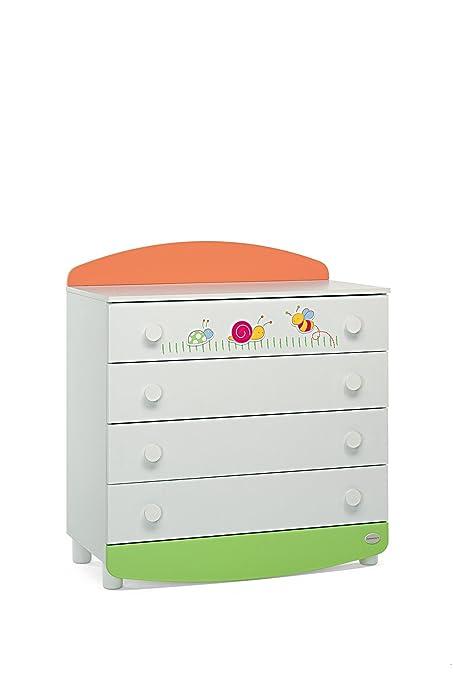 Foppapedretti 9900229114 Teneri Incontri Cassettiera, Multicolore