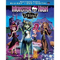 Monster High: 13 Wishes (Blu-ray + DVD + Digital Copy + UltraViolet)