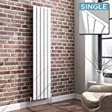 1600 x 360 mm Vertical Column Radiator White Flat Panel | Original - iBathUK premium radiator