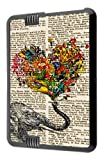 "Amazon Kindle Fire HD 7"" Funky Aztec Elephant Floral Trunk Fashion Trend Design Case Back Cover Hard Plastic and metal"