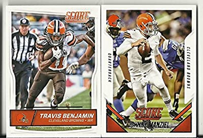 2015 & 2016 Panini Score Football Cleveland Browns 2 Team Set Lot 30 Cards W/Rookies