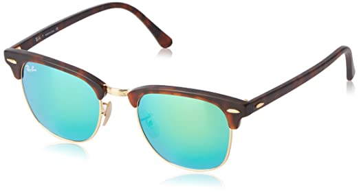 Ray Ban Green Mirror Clubmaster Sunglasses (RB3016 114519): Amazon