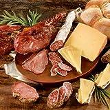 """Schlemmerpaket """"Viva Espana"""" 930g mit Manchego-Schafskäse, Fuet-Salami und Serrano-Schinken"""