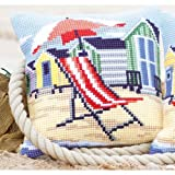 Vervaco Beach Chair Cross Stitch Cushion Multi Colour