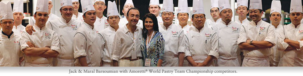 Maral & Jack Barsoumian with the Award Winning Amoretti Team