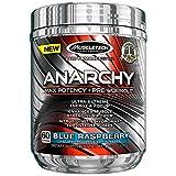 MuscleTech Anarchy Pre-Workout Blue Raspberry Powder, 310 Gram