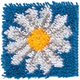 Wonderart Latch Hook Kit 8X8 Daisy