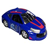 Turning Mecard Metal Mini Car EVAN BLUE (Not transforming)