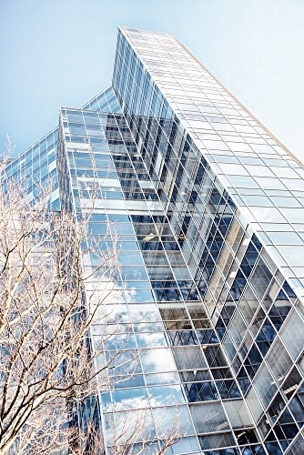 architectural-decor-picture-living-room-wall-art-contemporary-architecture-print-aqua-blue-color-bed