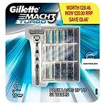 Gillette Mach3 Turbo Razor and 10 Bla...