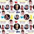 David Bowie Personalised Birthday Gift Wrap / Wrapping Paper. Add your personalisation (NAME up to 15 characters) in the gift messaging facility at checkout.