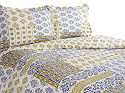 Pegasus Home Fashions Vintage Collection Whisper Reversible Quilt/Sham Set, Twin Size
