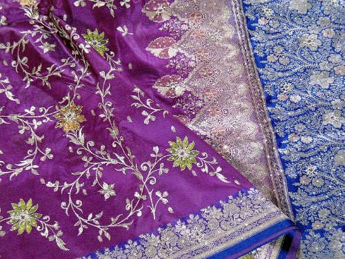 Purple Bollywood Designer Latest Saree Dress Fashion