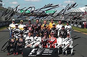 Limited Edition F1 2016 Drivers Signed Photo + Cert Formula One F1 Printed Autograph Signature Signed Signiert Autogramm by GIFTEDBOX