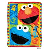 Sesame Street, 1, 2, 3 Play with Me Micro Raschel Throw, 46 by 60""