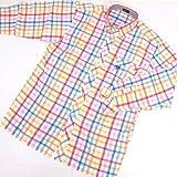 8744 【ALL】 ボタンダウンシャツ 長袖 オープンシャツ サイズ大きめ PAGELO パジェロ レッド(赤)アソート サイズM【紳士服/メンズ/男性用】