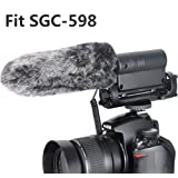 Outdoor Microphone Furry Windscreen Muff for TAKSTAR SGC-598 (Color: Fit SGC598)
