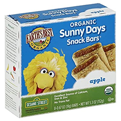Earth's Best Organic Sunny Days Snack Bars, Apple, 8 Count (Pack of 6) ( 5.3 oz Packets ) by Earth's Best