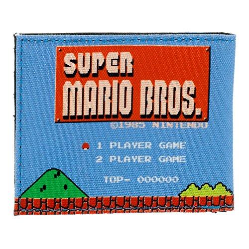 Nintendo Super Mario Bros. Porta carte di credito, blu (Rosso) - BIO-MW1PX6SMS