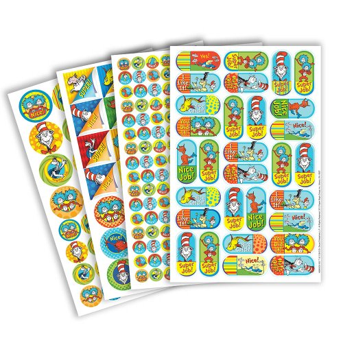 Eureka Dr. Seuss Corners Sticker Book
